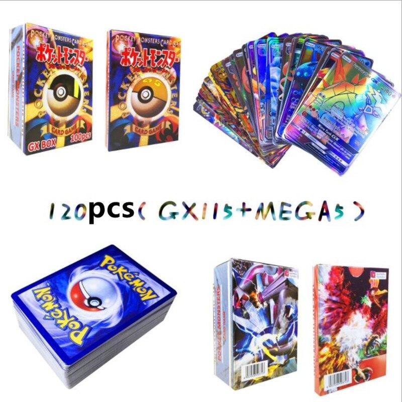300 шт GX 20 60 100 шт Мега Сияющие карты игра битва карт торговые карты игра детская игрушка «Покемон» - Цвет: 115GX 5MEGA