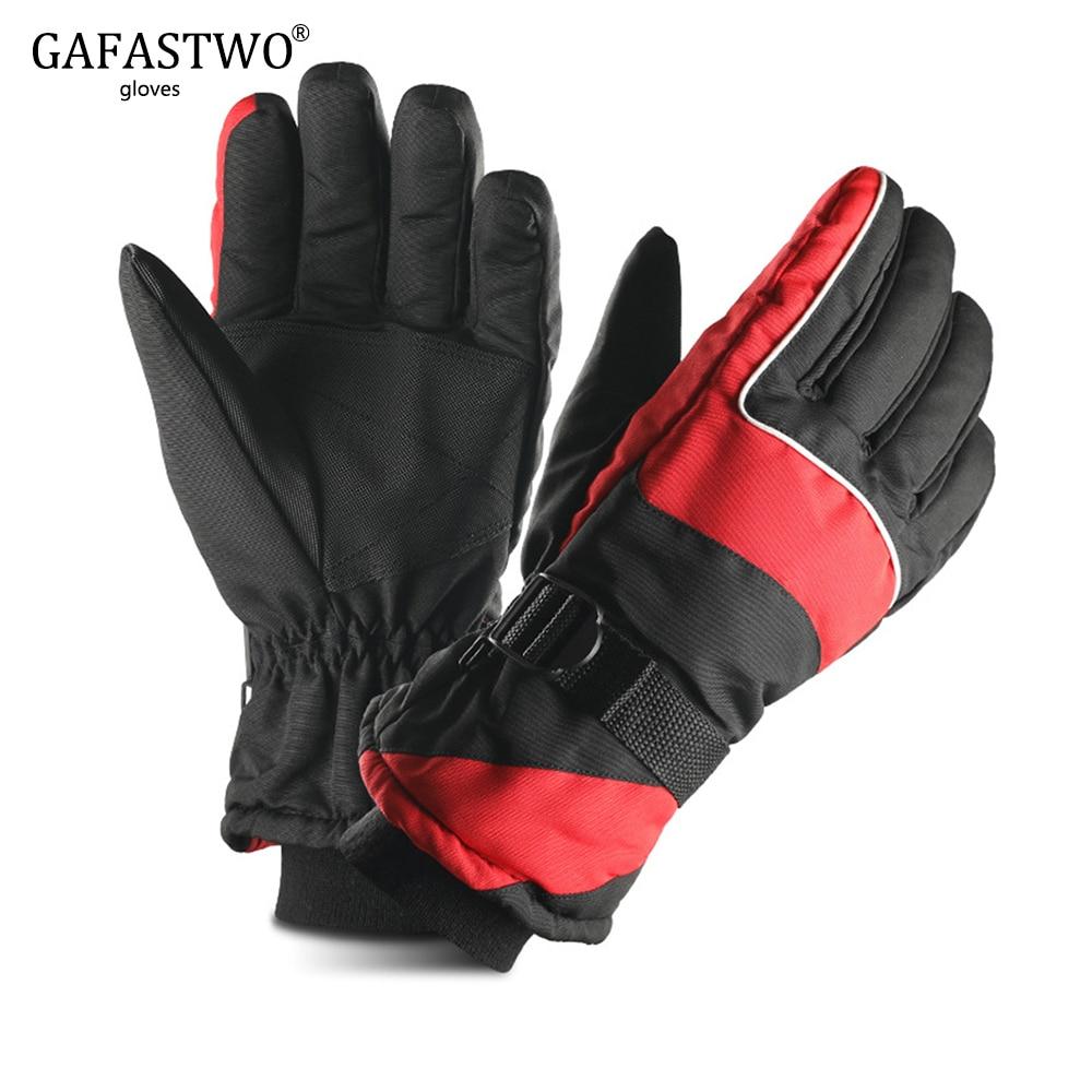 Winter Warm Plus Velvet Thickening Ski Gloves Men And Women Outdoor Sports Riding Waterproof Windproof Non-Slip Gloves