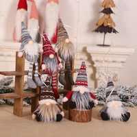 Christmas Decoration Swedish Stuffed Toy Santa Doll Gnome Scandinavian Tomte Nordic Nisse Dwarf Home Ornaments Pendant