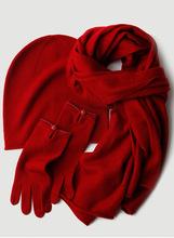 Trzyczęściowy dzianinowy kapelusz rękawiczki 100 kaszmirowy szalik zestaw ciepły gruby Pashmina zima 2020 luksusowych marek dzianiny modny kapelusz damski tanie tanio CN (pochodzenie) WOMEN CASHMERE Dla dorosłych Moda 23inch 22inch Szalik Kapelusz i rękawiczki zestawy HZZ1009 0 55kg