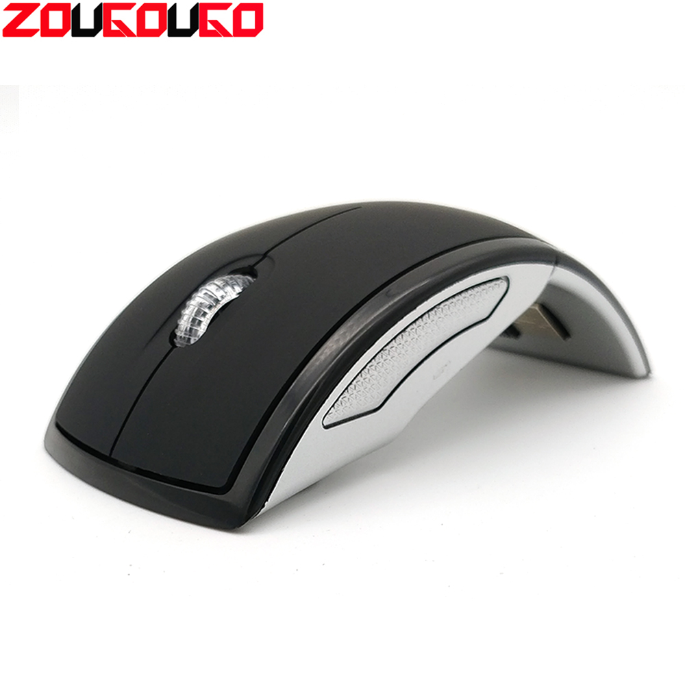 Wireless Mouse 2.4G Computer Mouse Foldable Travel Notebook Mute Mouse Mini Mice USB Nano Receiver For Laptop PC Desktop