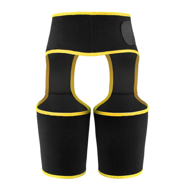 Plus Size Adjustable Women Leg And Waist Belt Trimmer Neoprene Buttocks Body Shaper High Waist Abdominal Belt Sweat Girdle 5