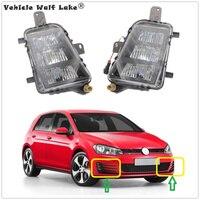2pcs LED Fog Lamp For VW Golf 7 A7 MK7 GTI GTD 2013 2014 2015 2016 2017 Car Front LED DRL Fog Lamp Fog Light Without Error