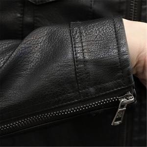 Image 3 - Nowe męskie kurtki skórzane motocykle brytyjska biznesowa moda codzienna wysokiej jakości wojskowa kurtka taktyczna PU męska kurtka Bomber