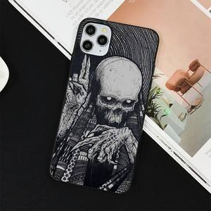 Image 2 - YNDFCNB Gothic Fashion Skull Phone Case for iPhone 11 12 pro XS MAX 8 7 6 6S Plus X 5S SE 2020 XR cover
