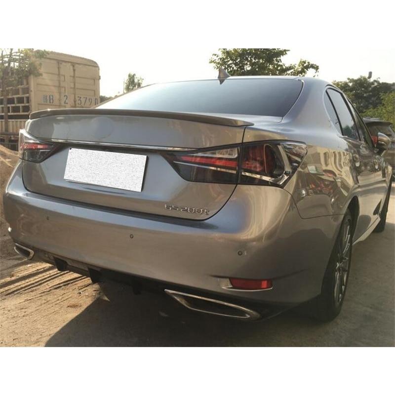 CEYUSOT FOR Auto Parts Spoiler Lexus GS250 GS300 GS350 GS450h Car Trunk ABS Plastic Rear Wing Tail Lip 2012-18 Lexus GS Series