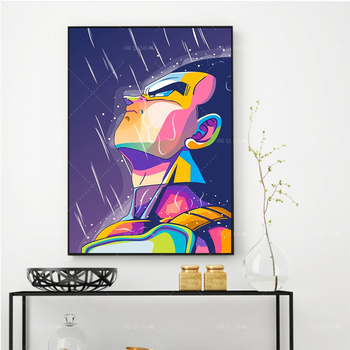 Modern Canvas Painting  Japan Hot Anime Dragon Ball Role Modular Picture Hd Home Wall Decor Print Poster For Living Room Cuadros недорого