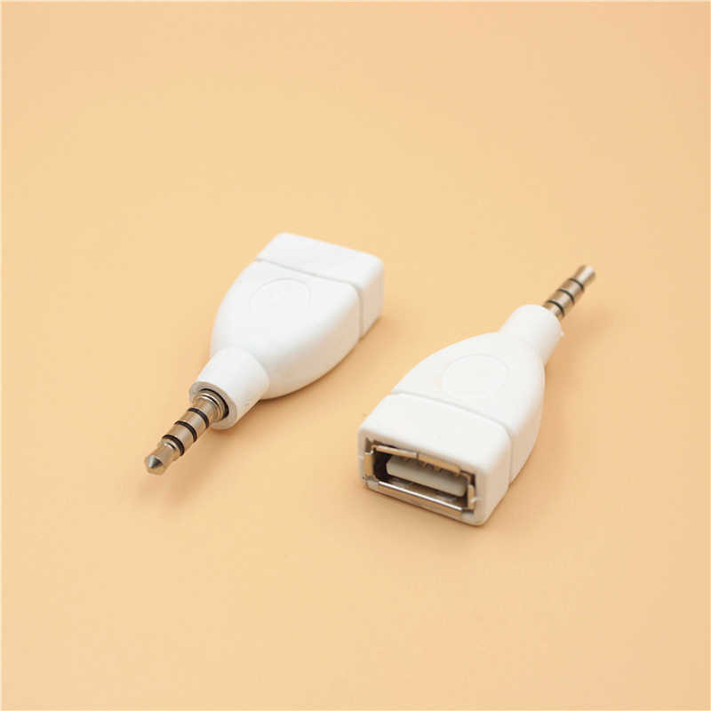 Adaptor Konverter USB 2.0 Female Ke 3.5 Mm MALE AUX Audio Tahan Lama Mobil Plug Jack