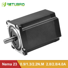 RETUBRO Nema 23 шаговый двигатель 1 год гарантии 2 фазы гибридный шаговый двигатель 57 мм фланец 0.9NM-2.2NM CE ISO Сертифицированный