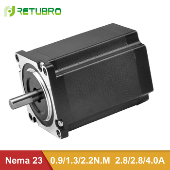 RETUBRO Nema 23 Stepper Motor 1 Year Warranty 2 Phase Hybrid Step Motor 57mm flange 0.9NM-2.2NM CE ISO certificated
