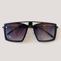 2019 Luxury Fashion Rectangle Sunglasses Women Men Vintage Mirror Sunglasses Oculos De Sol Feminino UV400