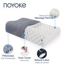 Oreiller orthopédique en Latex naturel, lit ergonomique, doux, pour protéger le cou et les cervicales, avec taie doreiller, pour chambre à coucher