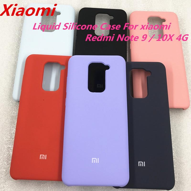 Оригинальный Xiaomi Redmi Note 9 шелковистый мягкий на ощупь жидкий силиконовый защитный чехол для телефона Redmi 10X 4G Wite logo
