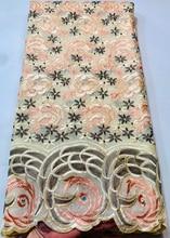 Новые поступления, африканская хлопчатобумажная кружевная ткань с камнями для вечернего платья, высокое качество, швейцарская вуаль, круже...