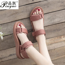 Leather Platform Sandals Women 2019 Summer Women's Chunky Shoes