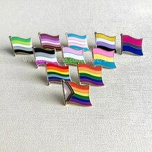 Радужный Флаг на лацкан брошь значок ЛГБТ бисексуал пансексуал асексуал Модные Ювелирные изделия Подарки коллекция