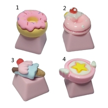 Cake-Ice-Cream Pbt Keycap Cute Mechanical-Keyboards DIY Pink 1pc for R4-Height Children's