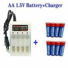 4-16pcs novo tag aa bateria 9800 mah bateria recarregável aa 1.5 v recarregável novas alcalinas drummey + entrega gratuita