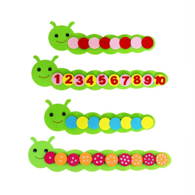Children Kindergarten Arithmetic Sort Educational Toys DIY Felt Non-woven Fabric Crafts Kids Montessori Teaching Aids Math Toys
