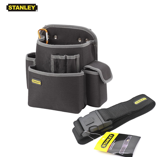 Stanley 1-piece professional multifunctional tool bags work organizer pouch waist tool holder electrician bag with hook 1