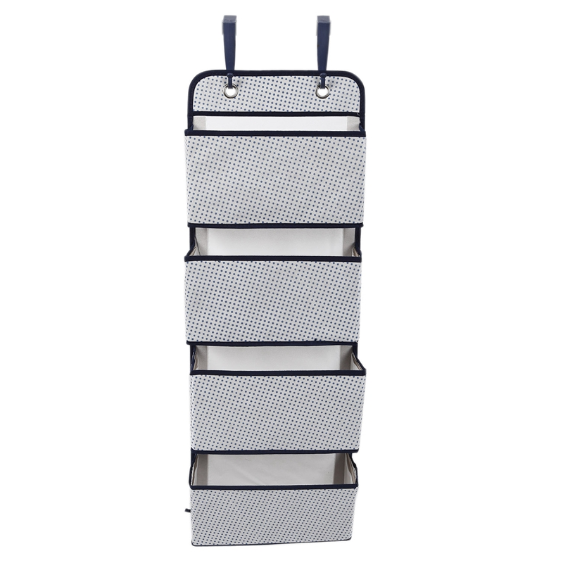 Ev ve Bahçe'ten Katlanabilir Depolama Çantaları'de Yeni Kumaş Kapı Asılı Ofis Depolama saklama çantası  4 Cepler 1 Paket title=