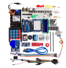 Arduino Uno R3 브레드 보드 및 홀더 용 스타터 키트 스텝 모터 서보 1602 LCD 점퍼 와이어
