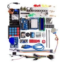 Bộ Khởi Đầu Cho Arduino Uno R3 Bo Mạch Và Giá Đỡ Động Cơ Bước Servo 1602 Màn Hình LCD Dây Nhảy Dây
