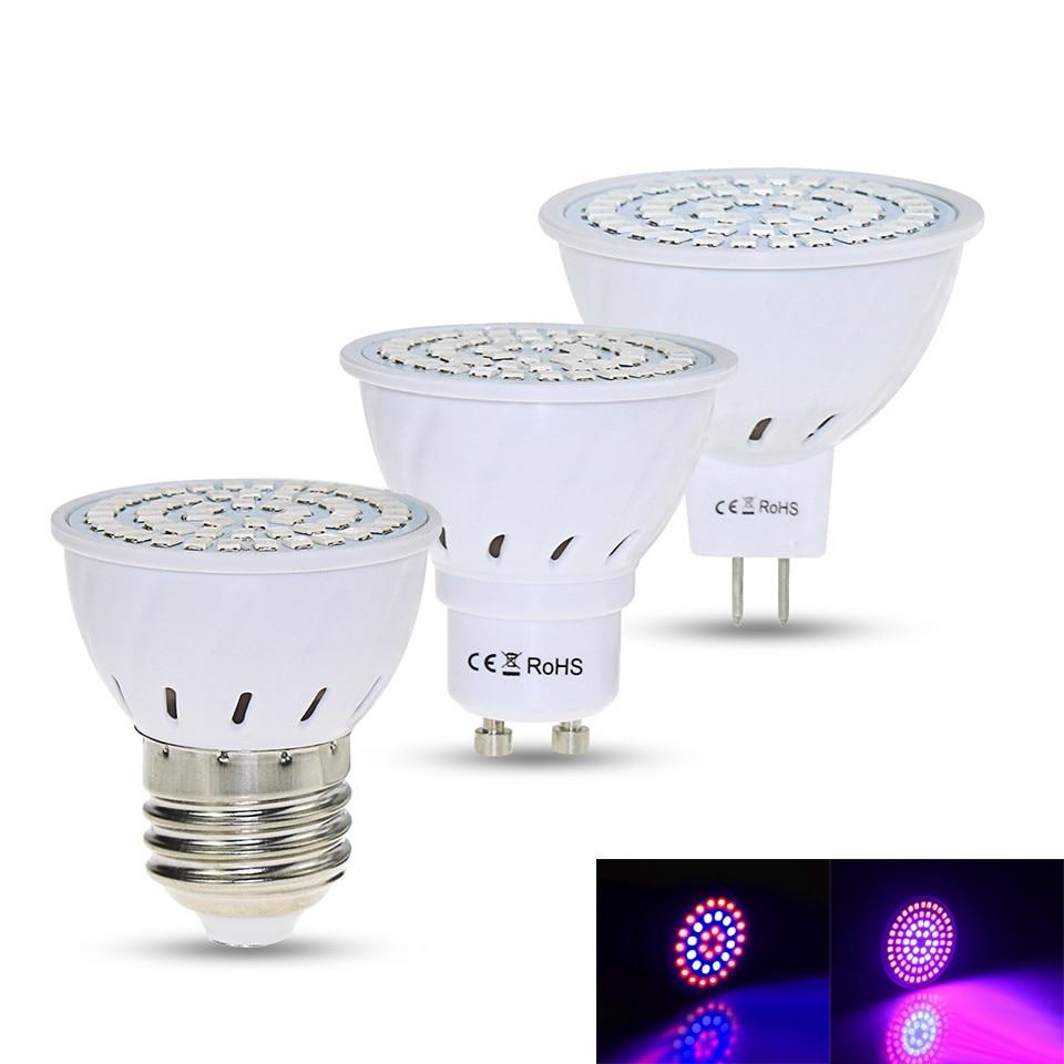 Full Spectrum E27 220V GU10 MR16 LED Phyto Lamp IR UV Plant Grow Light Bulb Fitolampy For Indoor Garden Plant Flower Hydroponics