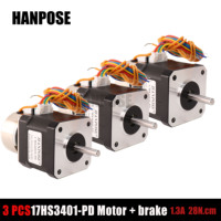 42 stepper motor 17hs3401 pd with brake 28n.cm 42 large torque with band brake 34mm long