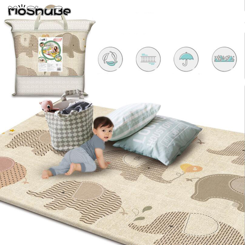 New Baby Play Mat Thick Waterproof Game Pad Infant Room Children's Rug Anti-slip Developing Mat Gym Carpet For Kids Toys