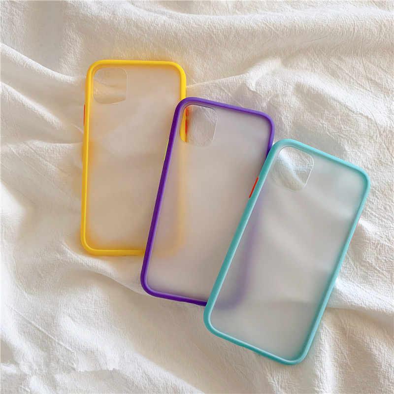 Basit mat tampon telefon kılıfı için bir artı 7 7T pro 1 + 7 1 + 7T PRO OnePlus 6 6T 1 + 6 1 + 6T darbeye dayanıklı yumuşak TPU silikon şeffaf kapak