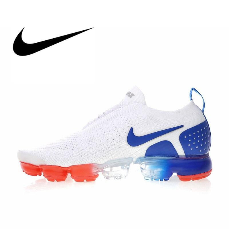 Original authentique Nike Air VaporMax Moc 2 chaussures de course pour hommes baskets de sport de plein Air Designer 2018 nouveauté AH7006-100