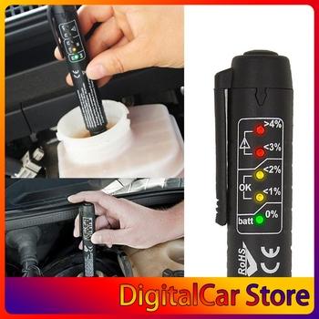 Płyn hamulcowy Tester cieczy Tester oleju Auto 5 LED samochód narzędzie do testowania do testowania DOT3 DOT4 DOT5 płyn hamulcowy tanie i dobre opinie CN (pochodzenie)