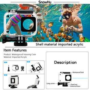 Image 3 - SnowHu Kit de accesorios para Xiaomi YI 4K, trípode, monopié, correa para trucos, adaptador de montaje para YI 4K + para YI Lite, cámara GS27