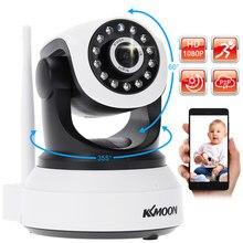 KKmoon – caméra de surveillance bébé IP Wifi hd 2MP/1080P, dispositif de sécurité domestique sans fil, avec codec H.264 et système infrarouge (P/T)