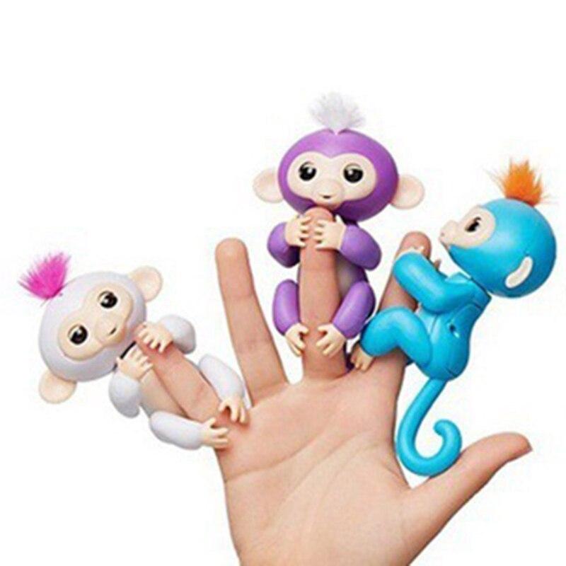 Baby Monkey Toy Baby Pet Colorful Finger Monkey Children's Toys Fingertip Monkey Smart Pet Finger Monkey
