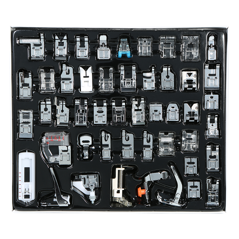 48pcs Sewing presser Domestic Sewing Machine Presser Foot Set Hem Foot Spare Parts Accessories for Brother Singer Feiyue Janome