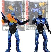 Фигурка Robocop NECA Robocop VS Terminator Series 2, Боевая экшн-фигурка с поврежденным огнемет, модель игрушки 18 см
