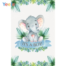 Yeele Baby Shower Tree Leaves Clever Elephant Stone Photography Backdrops Personalized Photographic Backgrounds For Photo Studio
