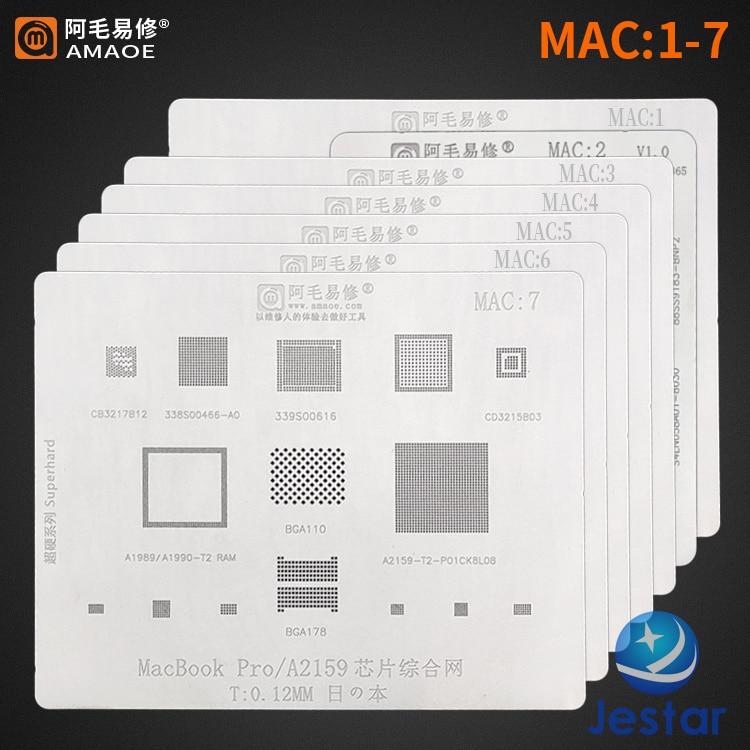 Трафарет для реболлинга BGA для Mac MacBook a1534 a1534 /sr2zy A1706 /A1707 A2159-T2/ A1989 / A1990 DDR SSD pro A2159 ic chip