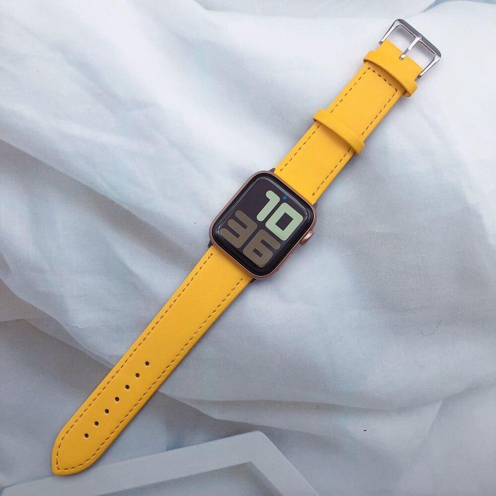Большой кожаный ремешок в наличии для Apple Watch ремешок 42 мм 38 мм 40 мм 44 мм Серия 1 2 3 4 5 Ремешки для часов      АлиЭкспресс