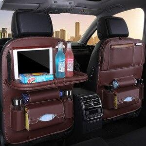 8 Pockets Car Seat Organzier Storage Bag Box Seat Multi Pockets Tidy Car Backseat Organizer Folding Table Dining Tablet Holder