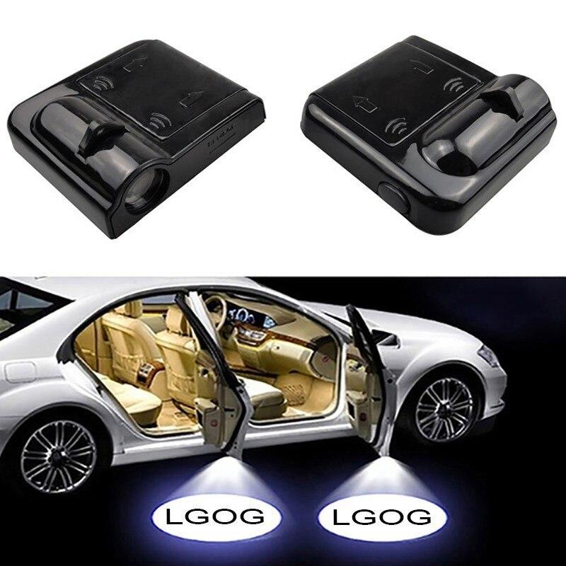2 шт. Универсальный беспроводной светодиодный проектор Тени шаг вежливости лампа для автомобильной двери лазерный приветственный свет для ...