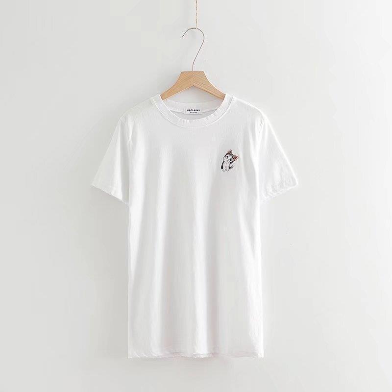 2018 Cotton Short Sleeve O-neck Print Letters Print Tshirts Women Summer Fashion