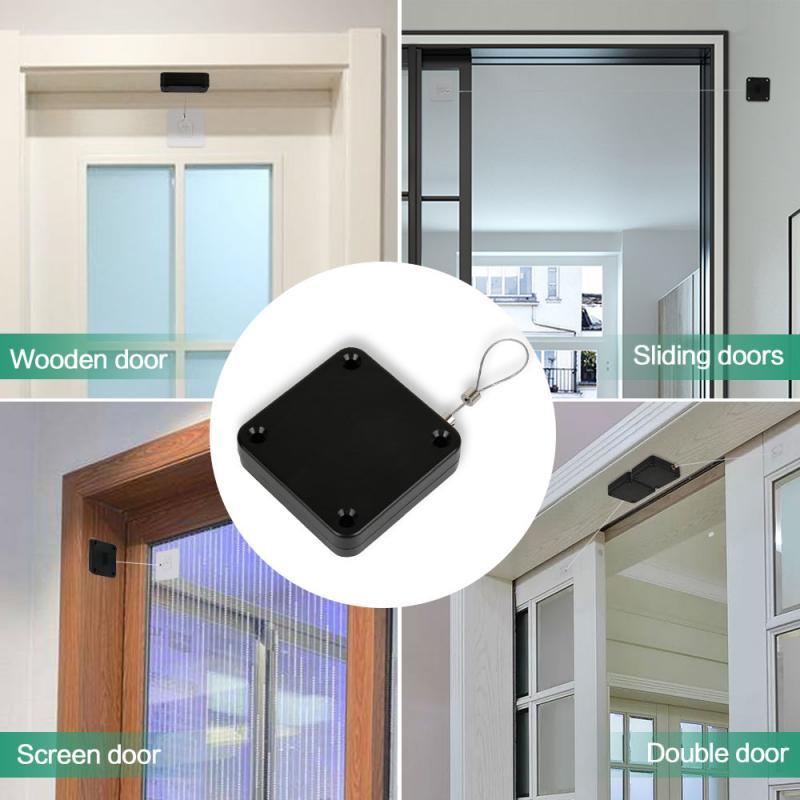 Sensor automático de Puerta sin perforación, Cierre automático para todas las puertas, 800g de tensión, Cierre de Puerta