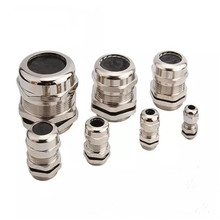1piece/lot Nickel Brass Metal IP68 Waterproof Cable Glands Connector Wire Glands for 3-44mm cable High quality 1pc british system g2 nickel brass cable glands apply to cable 37 44mm