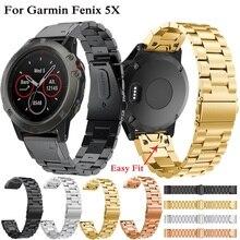 26mm Stainless Steel Watch Band with quick release for Garmin Fenix 3/5X 5X Plus Smart Watch Accessories for Garmin fenix 3HR