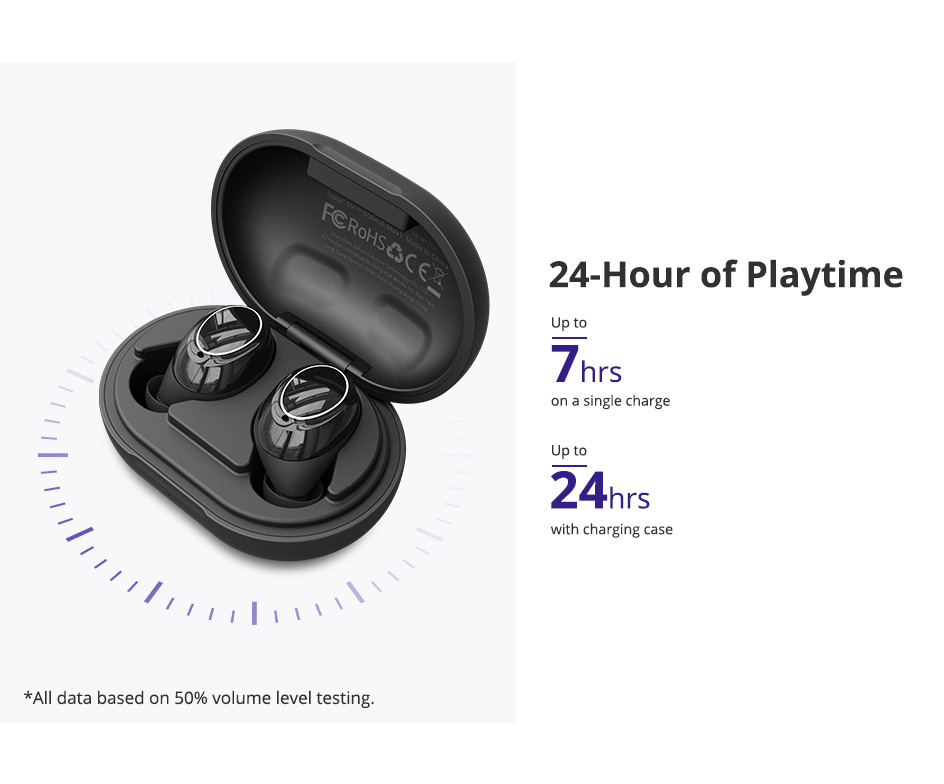 Tronsmart Onyx Neo Bluetooth 5.0 Earphone APTX True Wireless Stereo Earbuds with Qualcomm Chip Volume Control 24H Playtime (7)