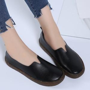 Image 3 - STQ 2020 ผู้หญิงฤดูใบไม้ร่วง Flats รองเท้าผ้าใบรองเท้าหญิงรองเท้าหนังผู้หญิงสุภาพสตรีแบนลื่นบนรองเท้าผ้าใบรองเท้า 908