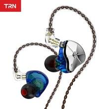 TRN STM 1DD 1BA الهجين في الأذن سماعة HIFI DJ مراقب تشغيل سماعة أذن تستخدم عند ممارسة الرياضة سدادة الأذن الهجين استبدال تصفية سماعة